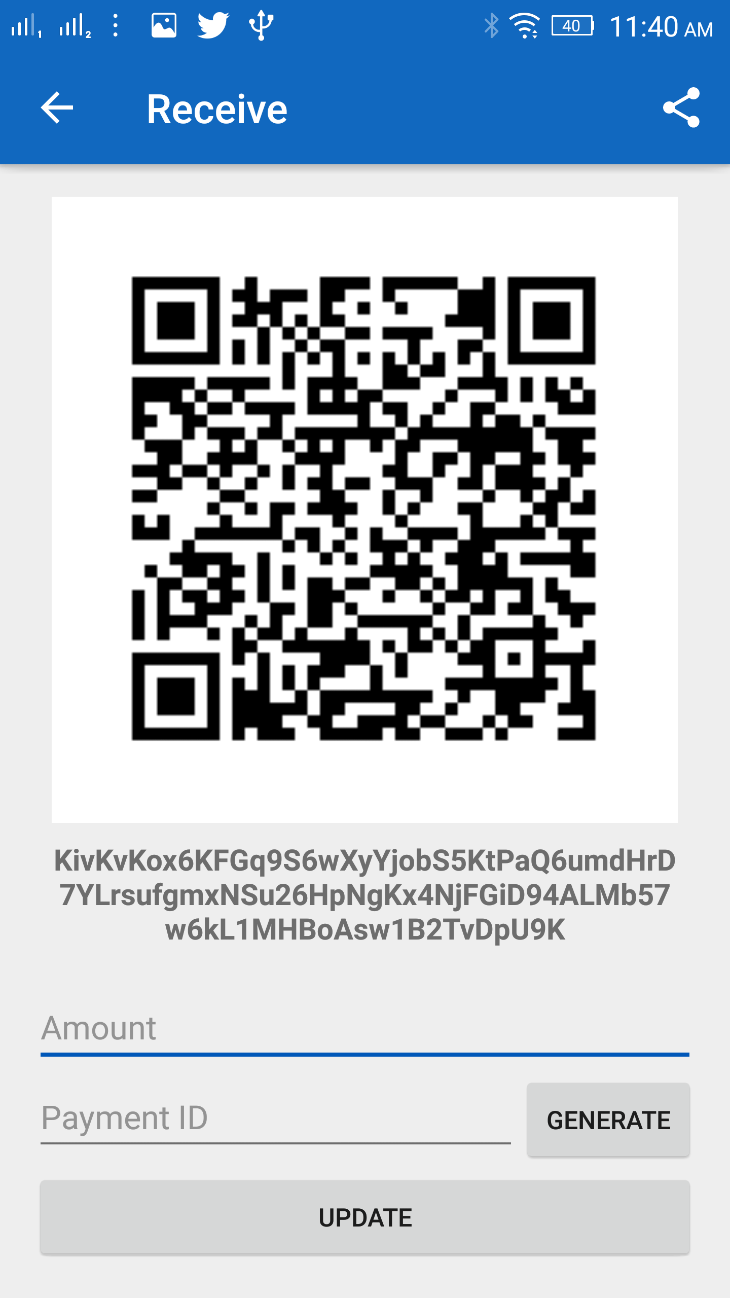 Mobile Wallet App Receive